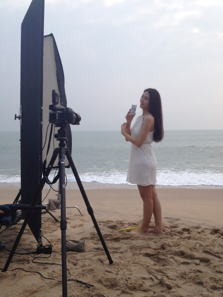 Quentin Shih Yili stills shoot Bangkok Thailand Beach